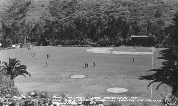 Chicago Cubs' spring training facility on Santa Catalina Island. Courtesy of the Pomona Public Library's Frasher Foto Postcard Collection.