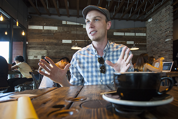 Steffen Sommers at his new place, Lift Coffee Roasters. | Photo: Douglas McCulloh