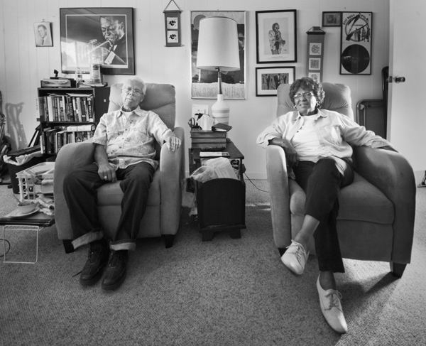 Reggie and Susan Strickland at their home in Riverside. | Photo: Douglas McCulloh