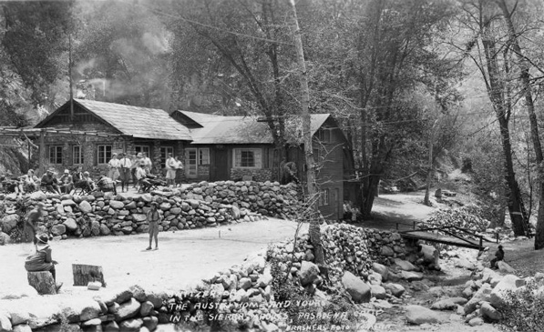 Southern California's Switzer-land, Camp Switzer, in 1929. Courtesy of the Pomona Public Library's The Frasher Foto Postcard Collection