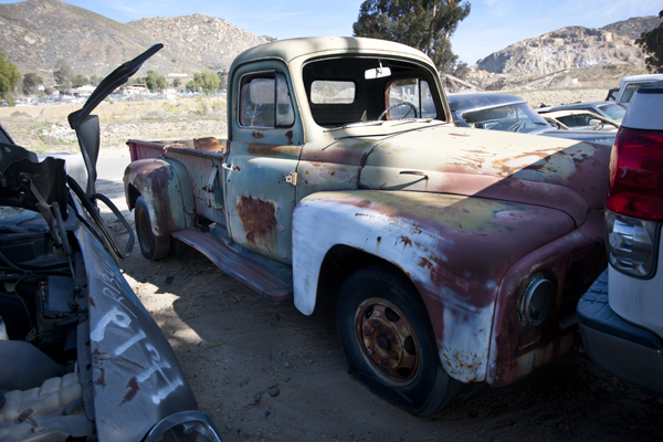 Truck, Pick-A-Part, Stone Valley, Jurupa Hills | Photograph by Douglas McCulloh
