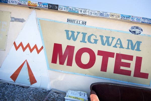 At the Wigwam Motel. | Photo: Douglas McCulloh