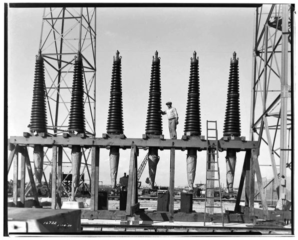 Long Beach Steam Station, Plant #3: Bushings for oil switches (Call Number: 02 - 16732; Date: 1/18/1930)