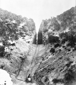 Beale's Cut, circa 1880. Courtesy USC Libraries, California Historical Society Collection.