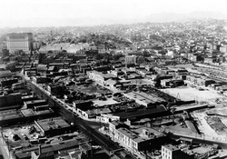 Old Chinatown shortly before it was demolished. USC Libraries / California Historical Society Collection