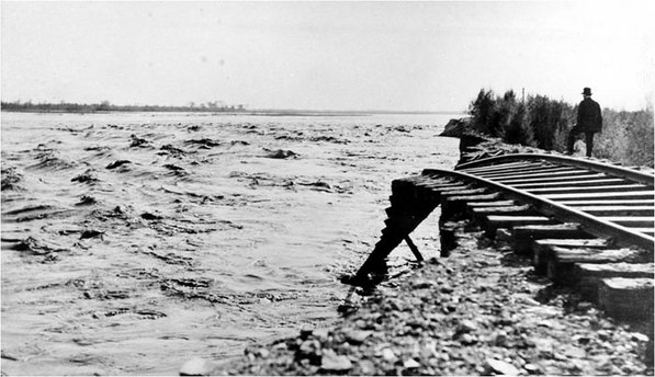 The catastrophic flood that created the Salton Sea in 1905-7's got nothing on the one that might be ahead.