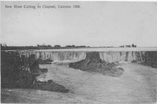 The New River Channel, cut by the floods of 1905-7