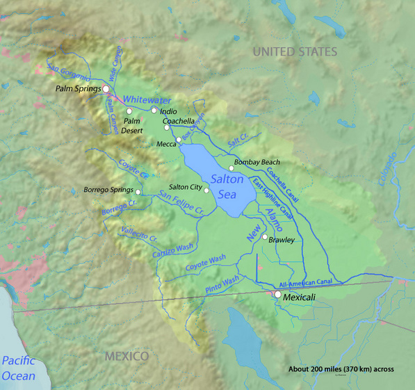 Map of the Salton Basin courtesy Wikimedia