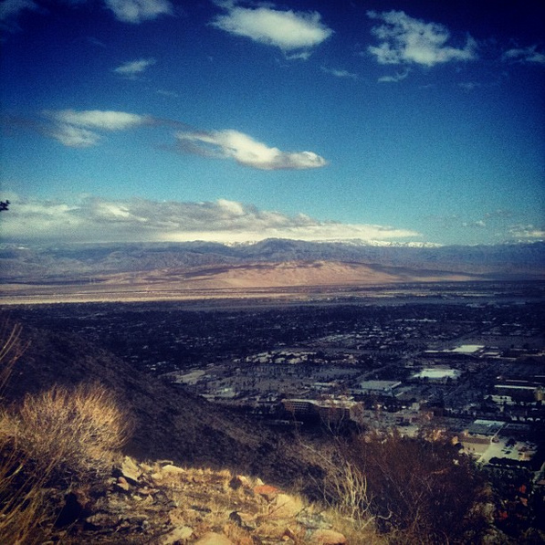 Distant snow seen from the North Lykken Trail, Palm Springs | Chris Clarke photo
