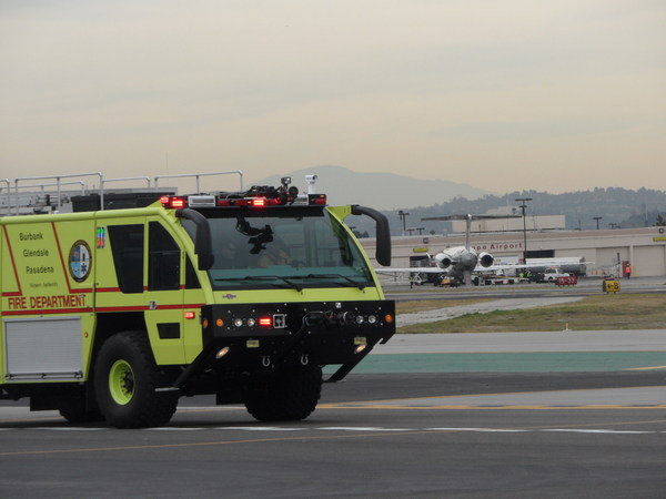 The airport fire department is slowly rotating older trucks out and replacing them with compressed air-foam-equipped vehicles | Photo: Reut R. Cohen