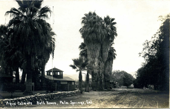 The old Tribal bathhouse on Section 14 | Public Domain photo via Agua Caliente Cultural Museum