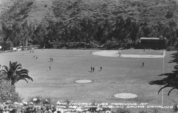 Between 1922 and 1951, with the exception of three years during World War II, the Chicago Cubs called Catalina Island their spring training home. Courtesy of the Frasher Foto Postcard Collection, Pomona Public Library.