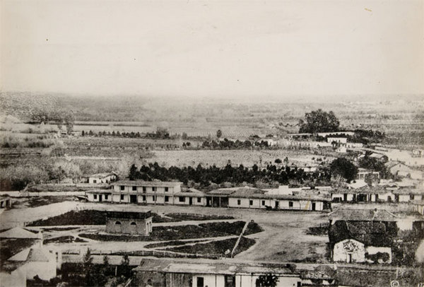 This image is widely considered the earliest-known photograph of Los Angeles. Courtesy of the Braun Research Library Collection, Autry National Center. Object ID P.15731.
