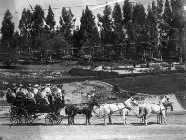 A carriage ride through Elysian Park. Courtesy of the Security Pacific National Bank Collection, Los Angeles Public Library.