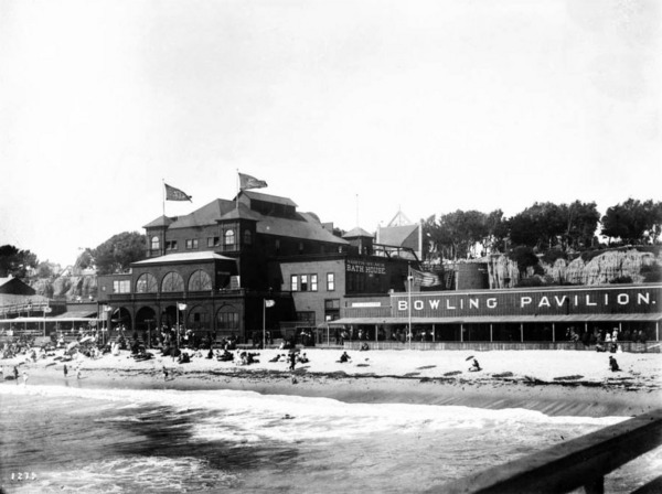 The North Beach Bath House replaced the original Santa Monica Bath House in 1894. Courtesy of the USC Libraries - California Historical Society Collection.