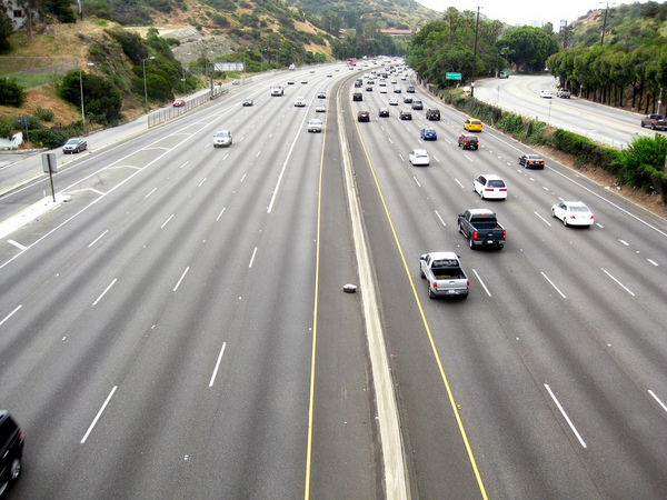 The Cahuenga Pass today. Photo by Flickr user stevedevol. Used under a Creative Commons license.
