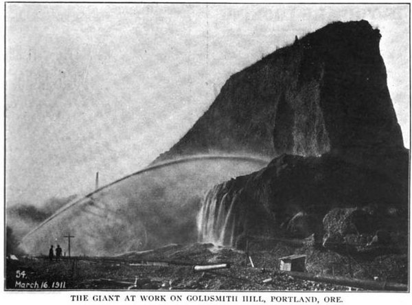 Seattle and Portland provided examples of successful regrading projects. Photo from The American City, vol. 7, number 1.