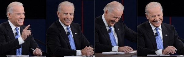 Some of U.S. Vice President Joe Biden's reactions during his vice presidential debate. | Photo: SAUL LOEB/AFP/GettyImages