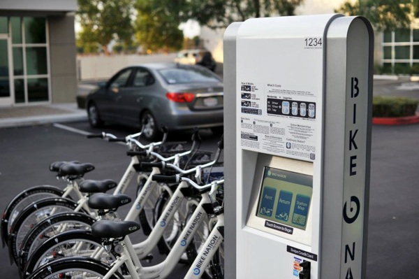 A Bike Nation bicycle sharing kiosk. | Photo: Courtesy Bike Nation
