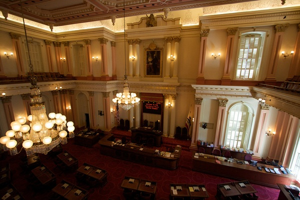Inside the California State Senate Chamber