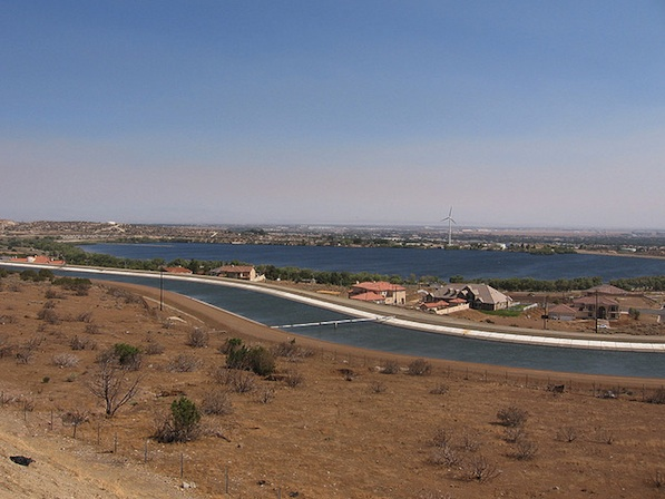 The California Aqueduct in Palmdale