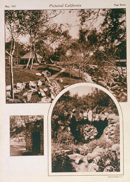 Pictorial California magazine featured the gardens, still under construction, in its May 1927 issue. Courtesy of the Pacific Palisades Historical Society Collection, Santa Monica Public Library.