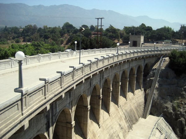 The Devil's Gate Dam is in Pasadena near the 210 Freeway and Oak Grove Drive