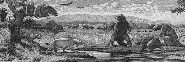 An artists' imagining of Pleistocene Los Angeles. Courtesy of the California Historical Society Collection, USC Libraries.