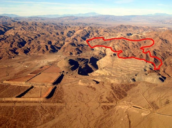 Outlined in red, the site of where the garbage dump is proposed | Photo by Howard Gross/NPCA