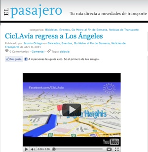 Screenshot of El Pasajero