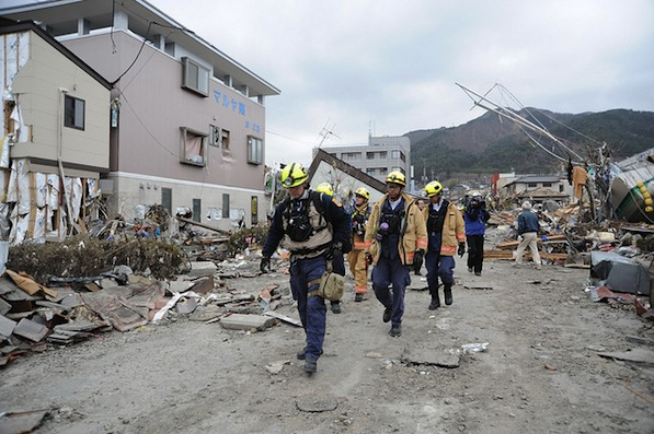 Members of fire departments in the U.S. have flown to Japan to help