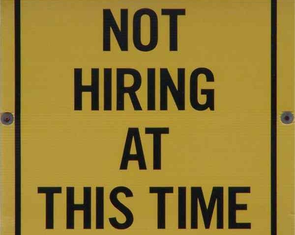 Jobs sign.