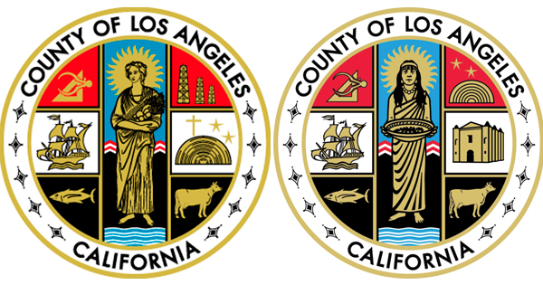 Left: L.A. County seal between 1958 and 2004. Right: L.A. County seal after 2004.