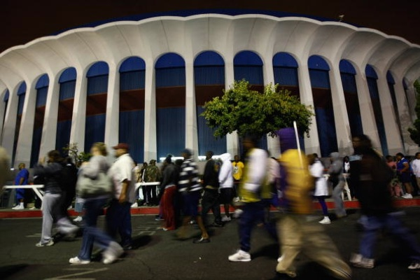 Outside The Forum in Inglewood | Photo by John Moore/Getty Images