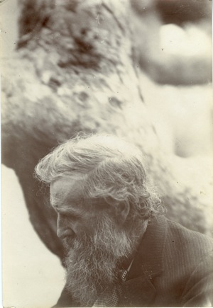 This profile portrait of John Muir comes from the Charles Lummis Photograph collection located in Special Collections, Honnold/Mudd Library at The Claremont Colleges. It is an albumen print, was photographed in an unknown location and is undated.