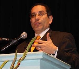 Juan Sepulveda, director of the White House Initiative on<br /> Educational Excellence for Hispanic Americans, speaks Friday at Santa Ana College at a conference on the Latino achievement gap | Courtesy of the Santa Ana Unified School District
