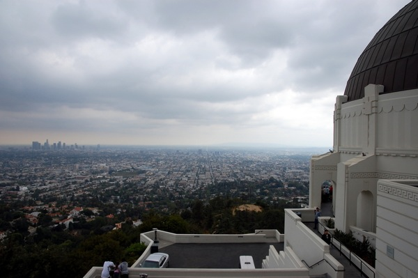 Clouds over Los Angeles.