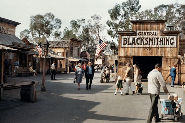 Ghost Town inside Knott's Berry Farm, 1967. Courtesy of the Orange County Archives.