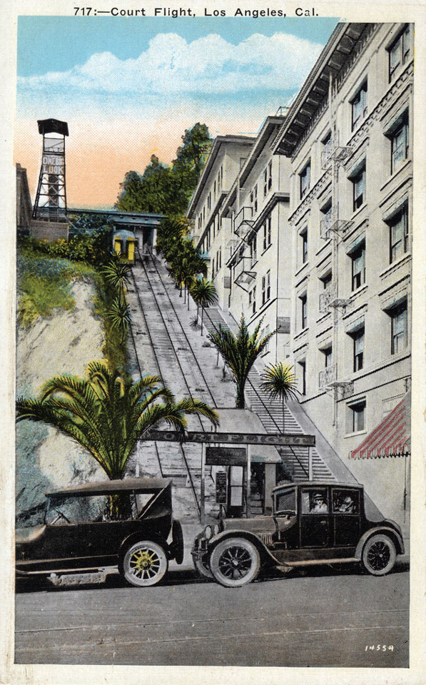 Postcard depicting Court Flight, circa 1930. Courtesy of the Werner von Boltenstern Postcard Collection, Loyola Marymount University Library, Department of Archives and Special Collections.