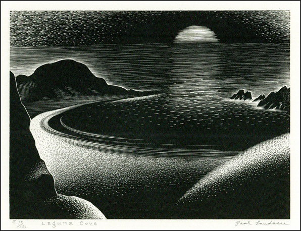 Paul Landacre, Laguna Cove, 1935. Paul Landacre Archive, William Andrews Clark Memorial Library, UCLA.
