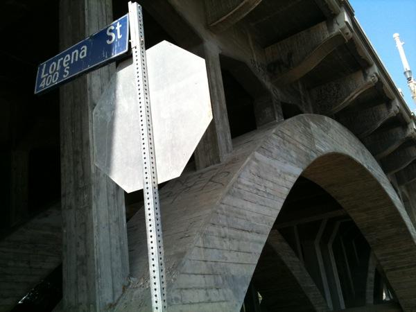 The Lorena Street bridge in East L.A.