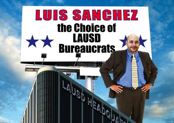 Campaign literature against Luis Sanchez