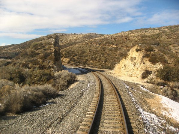 Track along Metrolink's Antelope Valley line