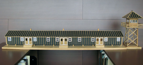 Scale-model replica of Jerome War Relocation Center in Arkansas by Min Sueda. Courtesy of the CSU Dominguez Hills Archives and Special Collections.