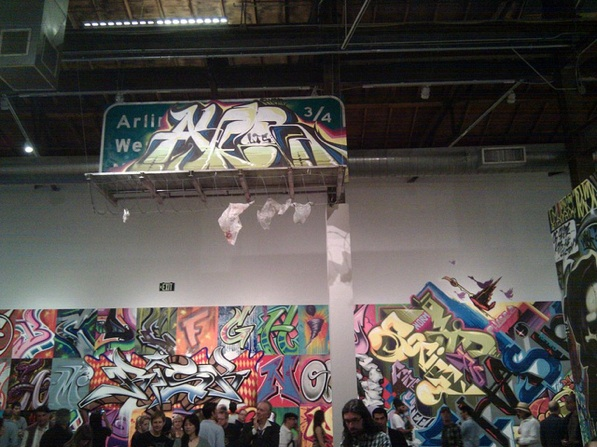 Artwork by Revok at The Geffen Contemporary at MOCA in Little Tokyo