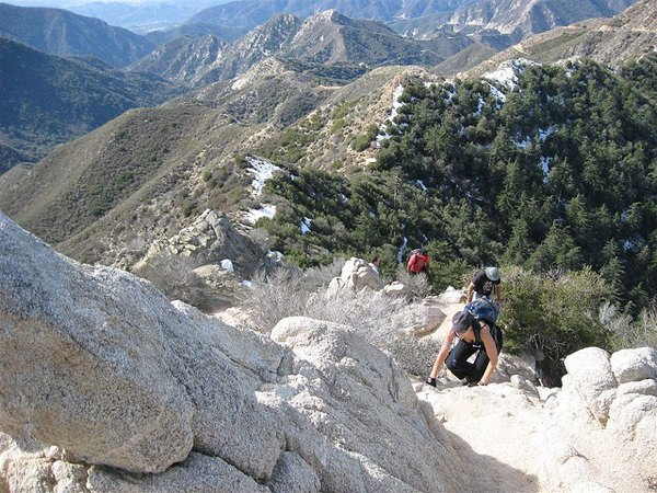 Hiking up Strawberry Peak in the San Gabriel Mountains