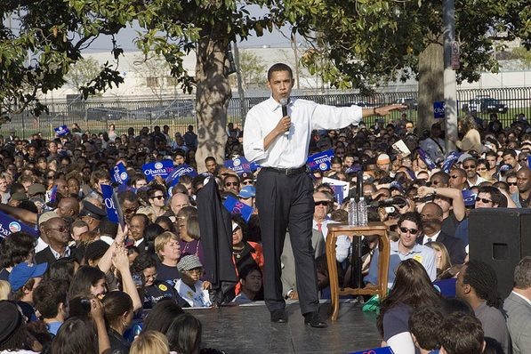 President Barack Obama at an L.A. campaign rally in 2007.