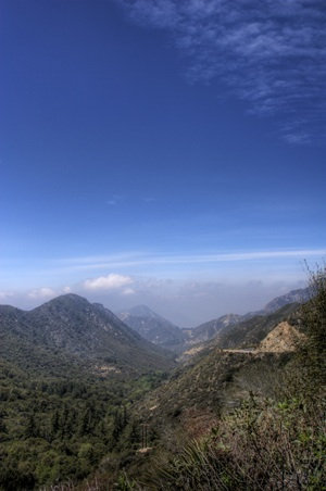 In the San Gabriel Mountains