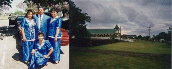 Tasi, Tia, Mom, Nema mid 90s and Euga's Church (2005)