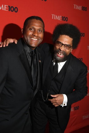 Tavis Smiley (L) and Dr. Cornell West attend Time's 100 Most Influential People on May 5, 2009 in New York City. (Photo by Stephen Lovekin/Getty Images)